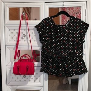 MINNIE MOUSE PEPLUM TOP